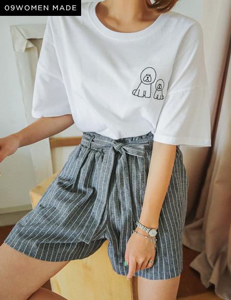 비숑 트윈 티셔츠 30169