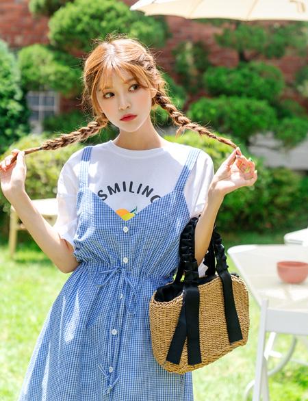모니카엔 레몬 나염 티셔츠 44329