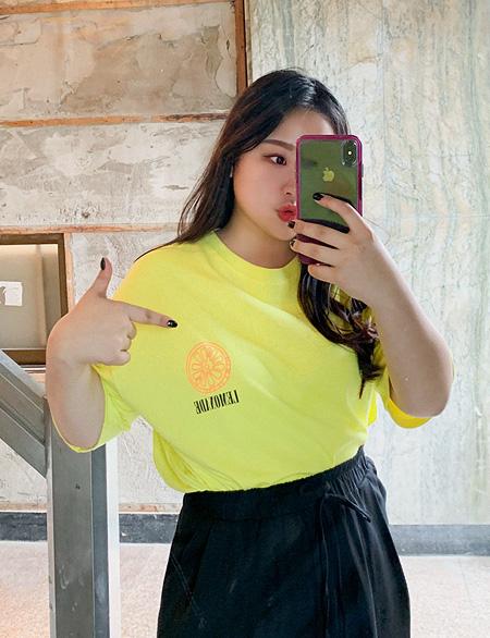 리브닝 나염 반팔 티셔츠 44906