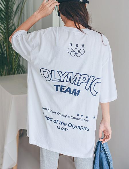 피키 루즈핏 나염 티셔츠 44959