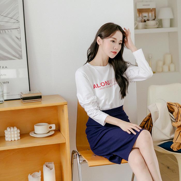 어롱사이드 나염 티셔츠 45127
