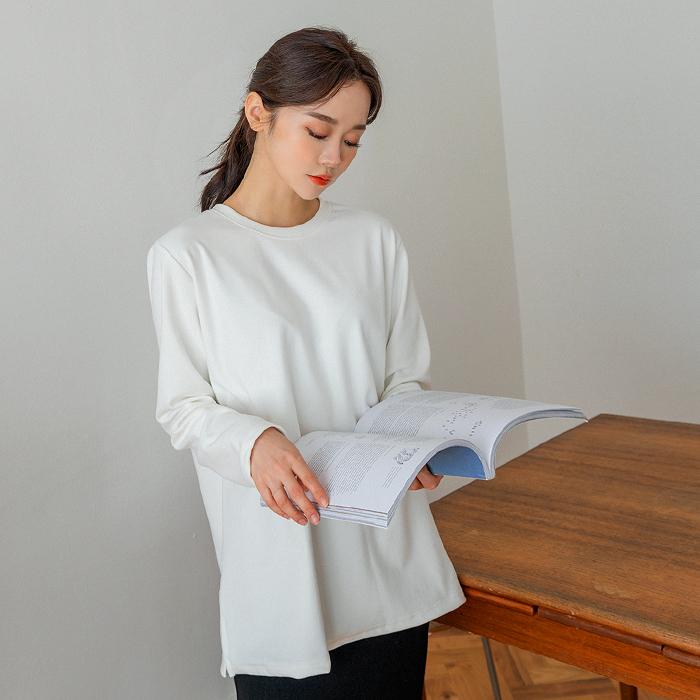 헤반 기모 베이직 티셔츠 46753