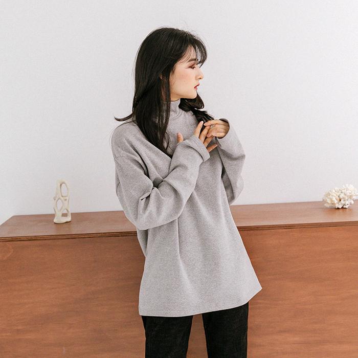 (unisex)로베인 하프넥 기모 워머 티셔츠 46724