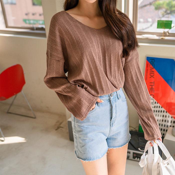 셀비 루즈핏 니트 티셔츠 48543