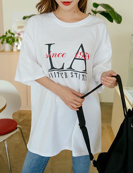 커스틴 LA 반팔 티셔츠 48728