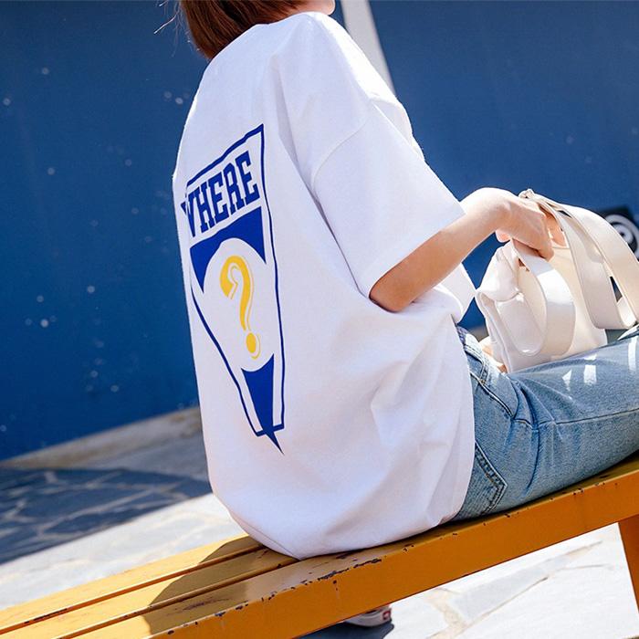 웨얼 루즈핏 나염 티셔츠 48829