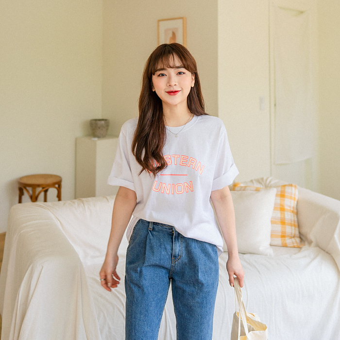 유니온 나염 반팔 티셔츠 49402