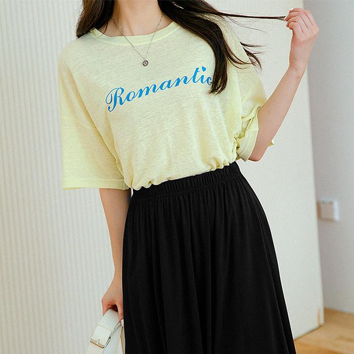 로리나 린넨 로맨틱 티셔츠 49417
