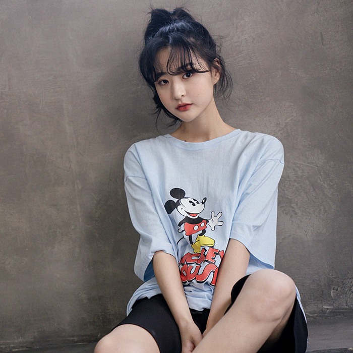 [디즈니정품]세미지 미키 티셔츠 49636