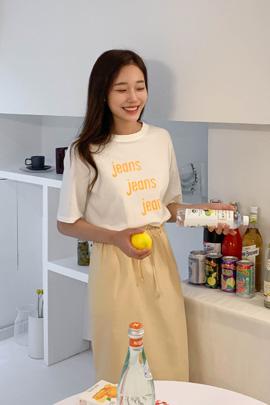 심플 레터링 티셔츠