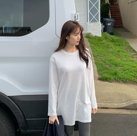 [재입고] 레이어드 라운드 티셔츠