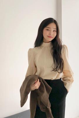 shirring cotton, blouse