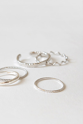 zigzag silver, ring