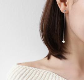 drop pearl, earring
