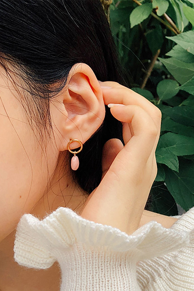 color circle, earring