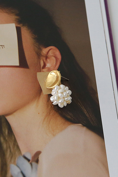 jane flower, earring