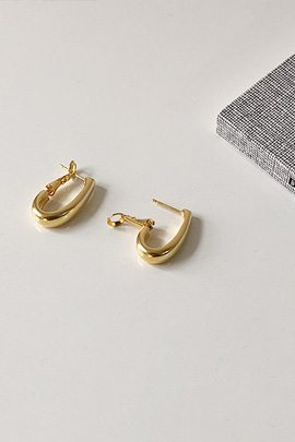 square gold, earring