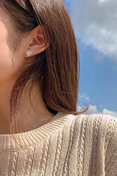 미니미 하트 귀걸이