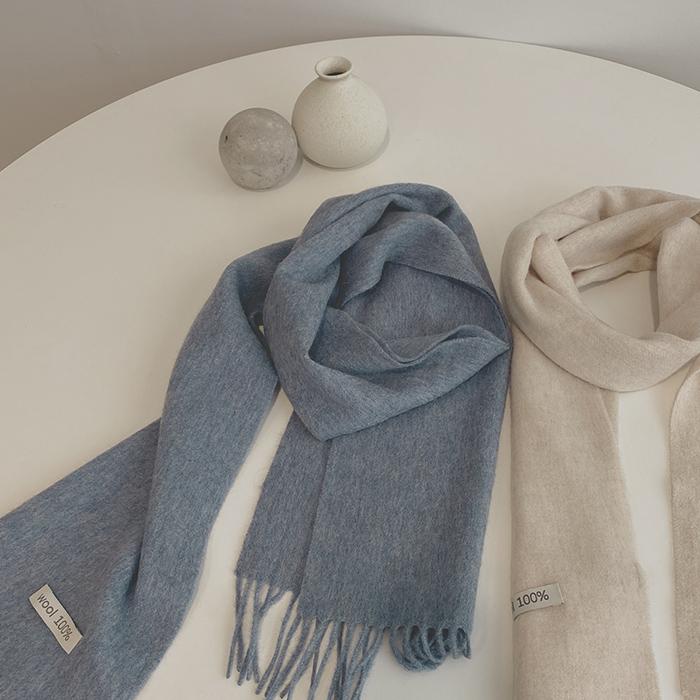 color wool, muffler [울100%]