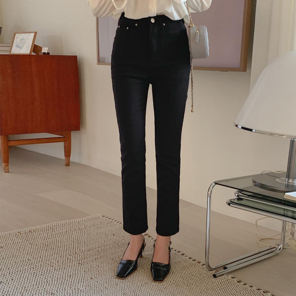 [재입고] 슬림 일자 면팬츠