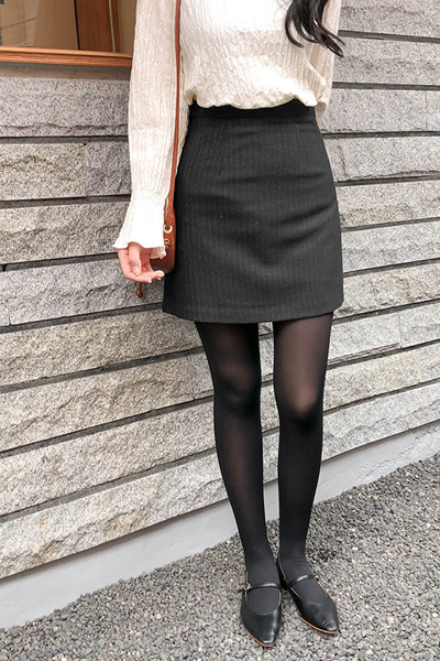 modern stripe_skirt