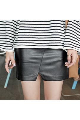 plain leather_skirt