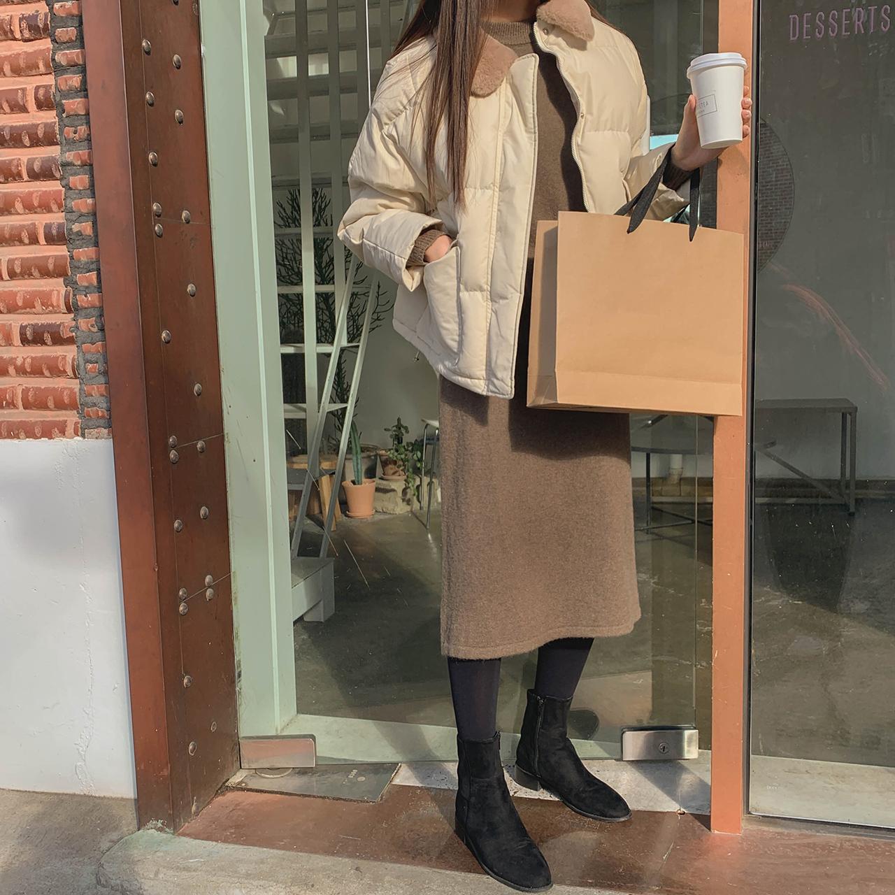 밍크 카라 패딩점퍼