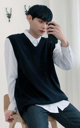 [코디세트] 셔츠+오버핏니트조끼
