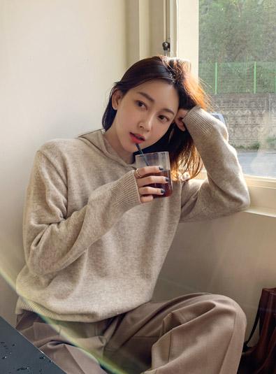 스테디 후드 knit (*3color)