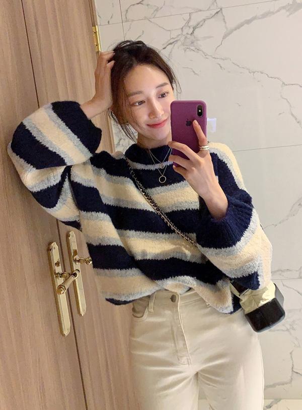 파운드 물결 knit (*3color)
