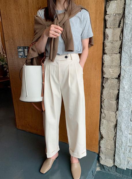 디어핀턱 pants (*2color)