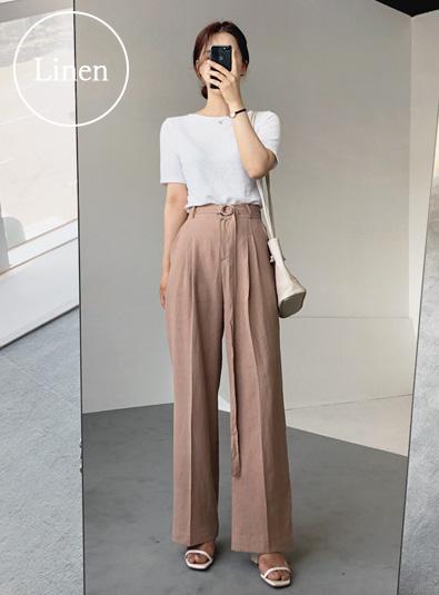 핀턱 린넨슬랙스 pants (*3color