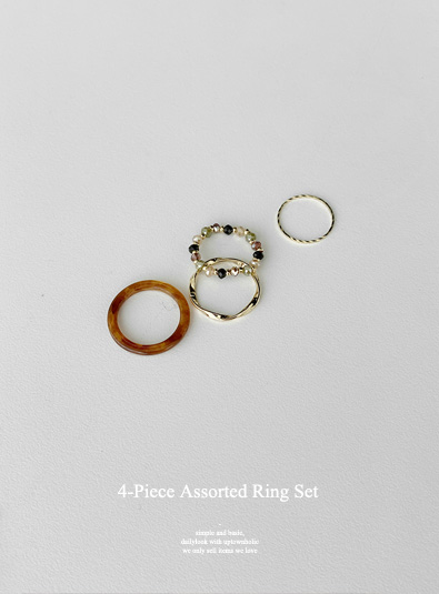 아르 set ring (*2color)