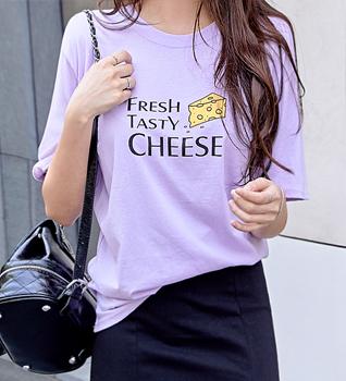 테이스티 치즈 반팔 티셔츠 #107047